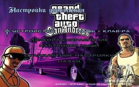 HD-Menüs für GTA San Andreas fünften Screenshot