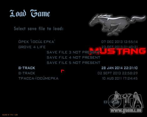 Nouveau menu d'image pour GTA San Andreas troisième écran
