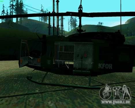 UH-1D Huey für GTA San Andreas Rückansicht
