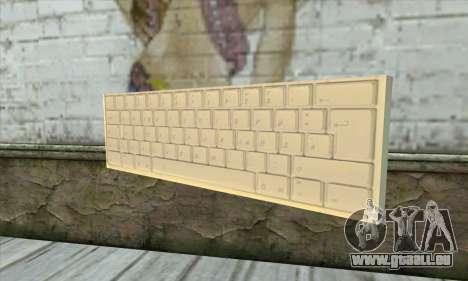 Tastatur Waffe pour GTA San Andreas