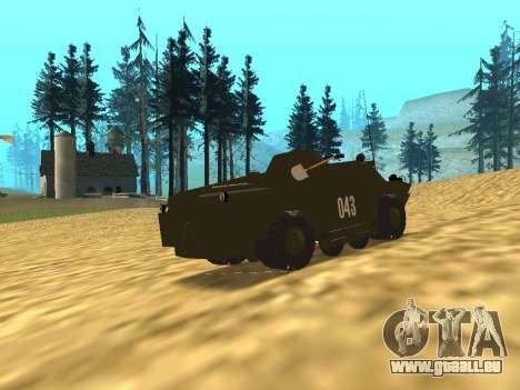 Gardes BRDM-2 pour GTA San Andreas sur la vue arrière gauche