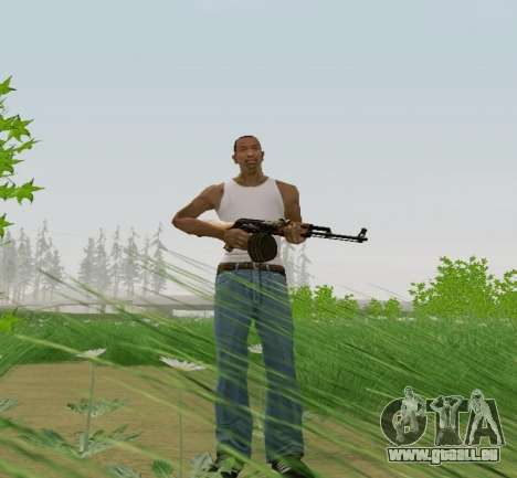 Kalaschnikow Light Machine Gun für GTA San Andreas dritten Screenshot