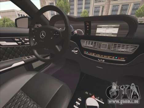 Mercedes-Benz S65 AMG 2012 für GTA San Andreas Innenansicht