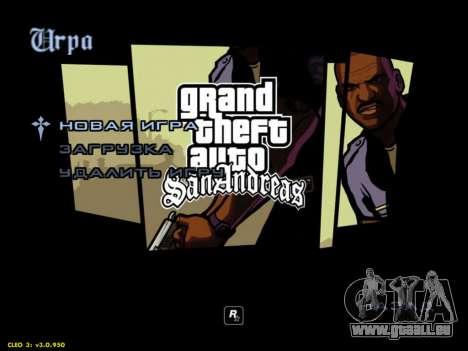 HD menus V.2.0 pour GTA San Andreas deuxième écran