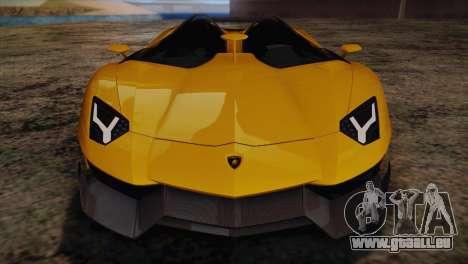 Lamborghini Aventandor J 2010 pour GTA San Andreas salon