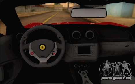 Ferrari California v2 pour GTA San Andreas vue arrière