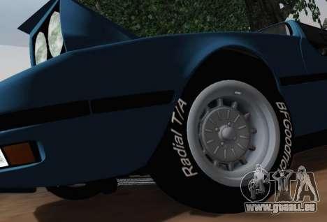 BMW M1 Turbo 1972 pour GTA San Andreas vue arrière