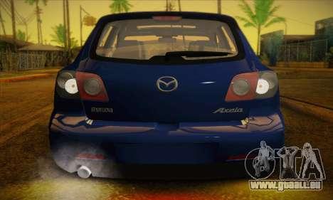 Mazda Axela Sport 2005 pour GTA San Andreas vue intérieure