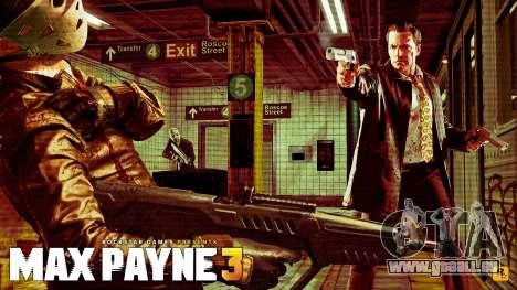 Les écrans de démarrage Max Payne 3 HD pour GTA San Andreas sixième écran