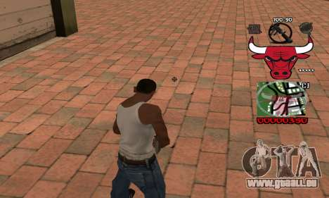 C-HUD Chicago Bulls für GTA San Andreas zweiten Screenshot