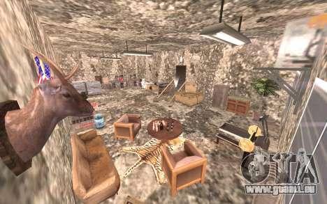 Le sous-sol de la maison Carl pour GTA San Andreas cinquième écran