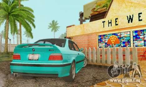 BMW E36 M3 1997 Stock für GTA San Andreas Innenansicht
