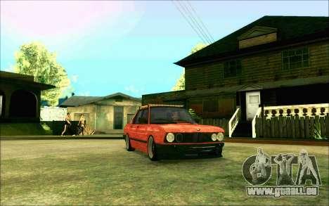 BMW M5 E28 RatStyle pour GTA San Andreas vue arrière