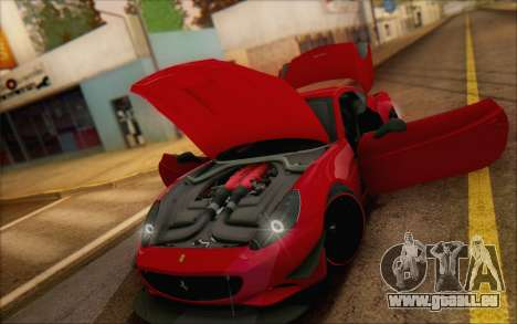 Ferrari California v2 pour GTA San Andreas vue intérieure