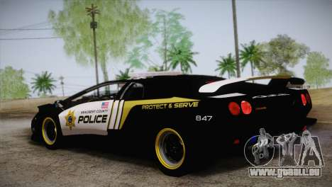 Lamborghini Diablo SV NFS HP Police Car für GTA San Andreas linke Ansicht