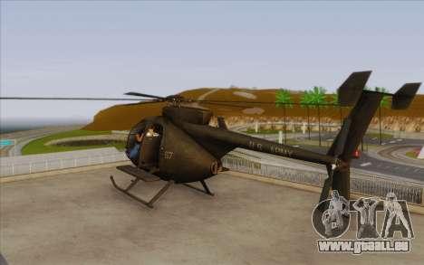 MH-6 Little Bird pour GTA San Andreas laissé vue