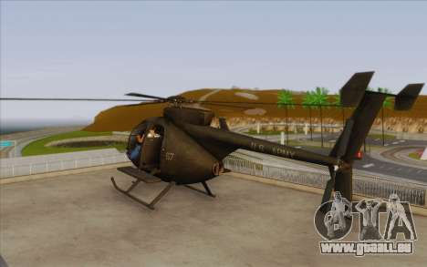 MH-6 Little Bird für GTA San Andreas linke Ansicht