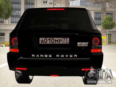 Range Rover Sport für GTA San Andreas obere Ansicht
