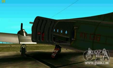 C-47 Dakota RAF für GTA San Andreas zurück linke Ansicht