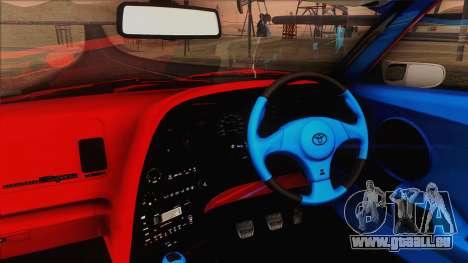 Toyota Supra 1998 Top Secret pour GTA San Andreas vue intérieure