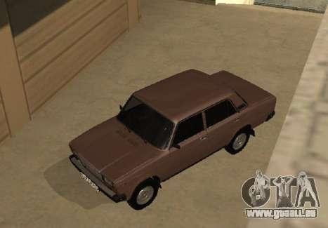 VAZ 2107 Frühen version für GTA San Andreas Innenansicht