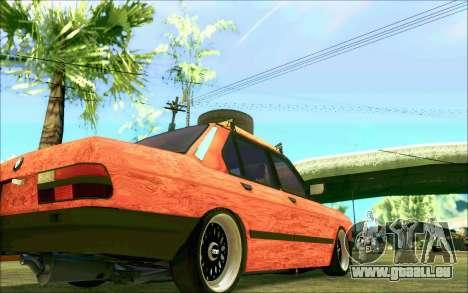 BMW M5 E28 RatStyle pour GTA San Andreas vue de côté