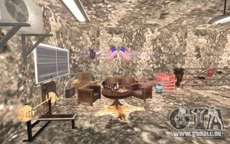 Le sous-sol de la maison Carl pour GTA San Andreas troisième écran
