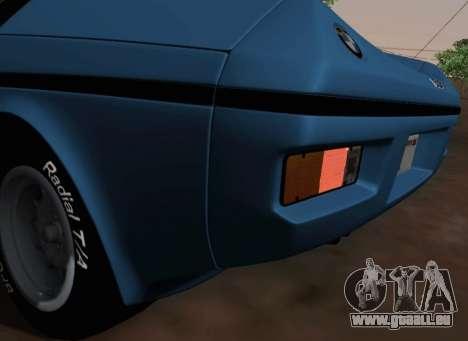 BMW M1 Turbo 1972 pour GTA San Andreas vue de côté