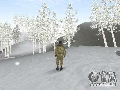 Pak service dans l'armée russe pour GTA San Andreas quatrième écran