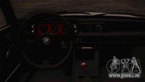 BMW 2002 1973 pour GTA San Andreas vue de droite