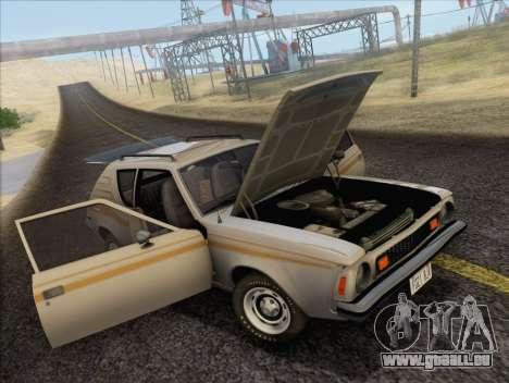 AMC Gremlin X 1973 pour GTA San Andreas vue arrière