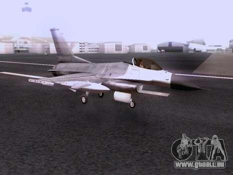 F-16 A für GTA San Andreas Rückansicht