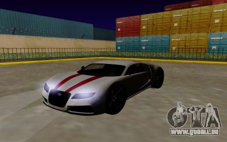 Gta 5 Truffade Adder pour GTA San Andreas sur la vue arrière gauche