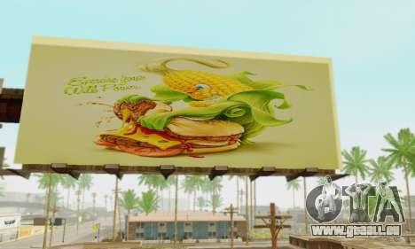 Neue hochwertige Werbung auf Plakaten für GTA San Andreas