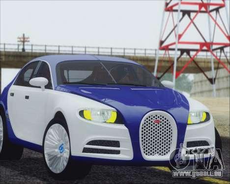 Bugatti Galibier 16c Final pour GTA San Andreas sur la vue arrière gauche