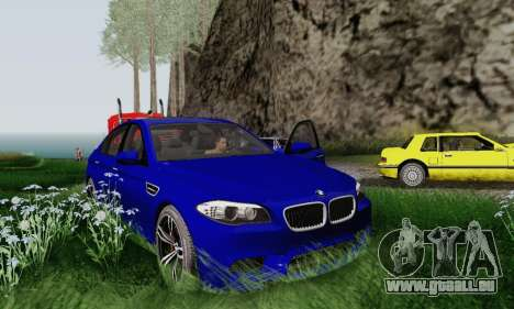 BMW F10 M5 2012 Stock pour GTA San Andreas vue intérieure