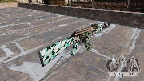 L'AK-47 Aqua Camo pour GTA 4