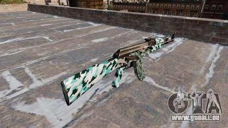 Die AK-47 Aqua Camo für GTA 4