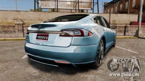 Tesla Model S pour GTA 4 Vue arrière de la gauche
