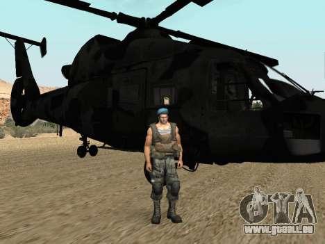 KA-60 pour GTA San Andreas sur la vue arrière gauche