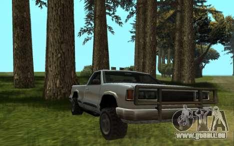 Yosemite Hunter pour GTA San Andreas sur la vue arrière gauche