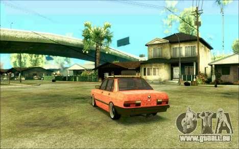 BMW M5 E28 RatStyle pour GTA San Andreas laissé vue