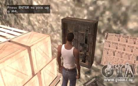 Le sous-sol de la maison Carl pour GTA San Andreas huitième écran