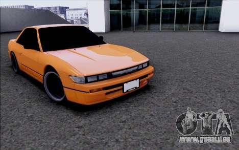 Nissan Silvia S13 für GTA San Andreas zurück linke Ansicht