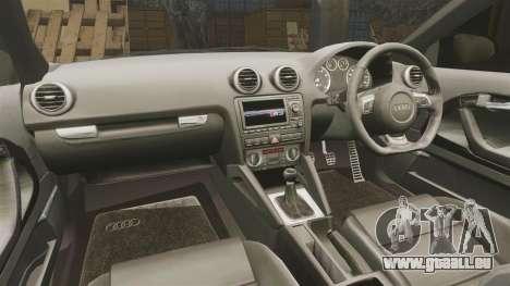 Audi S3 EmreAKIN Edition pour GTA 4 est une vue de l'intérieur