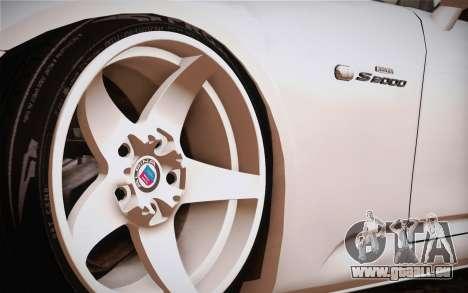 Honda S2000 Edit pour GTA San Andreas sur la vue arrière gauche