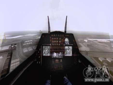 F-16 A pour GTA San Andreas sur la vue arrière gauche