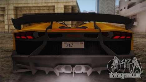 Lamborghini Aventandor J 2010 für GTA San Andreas Räder