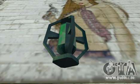 Greengoo alien liquid grenades pour GTA San Andreas deuxième écran