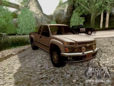 Chevrolet Colorado pour GTA San Andreas vue de dessus